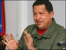 Venezuelan president Hugo Chavez (file photo)