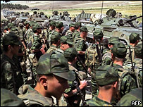 Российские солдаты в зоне грузинско-осетинского конфликта