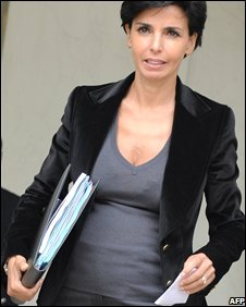 Rachida Dati leaves the weekly cabinet meeting in Paris