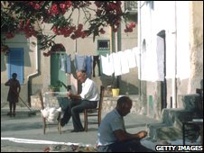 A scene from a small town in Sicily