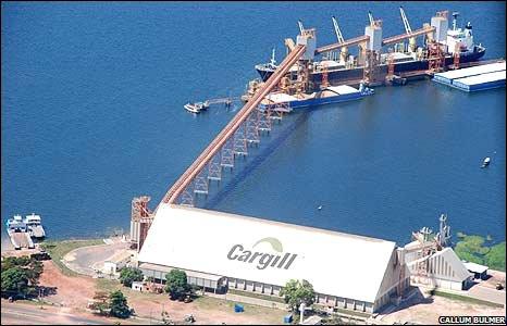 Cargill soya plant in Santarem