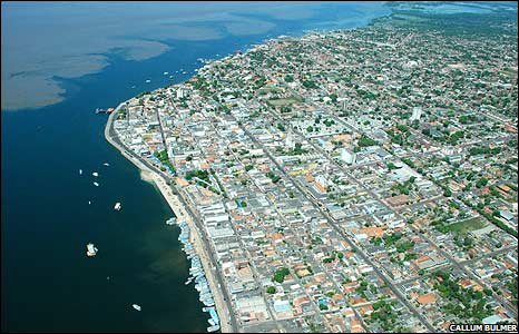 Aerial view of Santarem