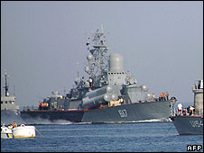 Black Sea fleet based in Crimea