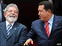 Lula da Silva y Hugo Chávez