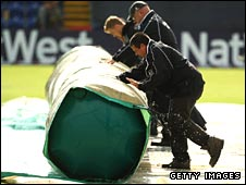 Groundstaff battle with the elements