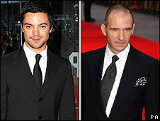Dominic Cooper and Ralph Fiennes