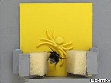 Bumblebee and robotic crab spider