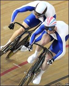 Jason Kenny (right) and Chris Hoy