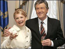 Yulia Tymoshenko and Viktor Yushchenko