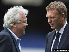 Bill Kenwright and David Moyes
