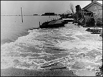 Foto de las inundaciones en Holanda en 1953