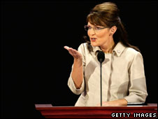 Sarah Palin addresses the Republican Natinal Convention