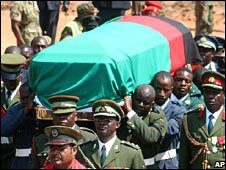 Levy Mwanawasa's coffin