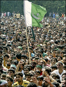 A pro-freedom procession in Kashmir