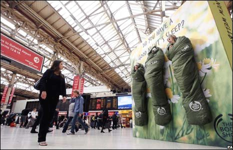 Promotion for The Body Shop's new Wellbeing Deep Sleep Range, London, 4 September, 2008