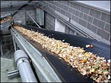 Shredded food waste: Photo Greenfinch