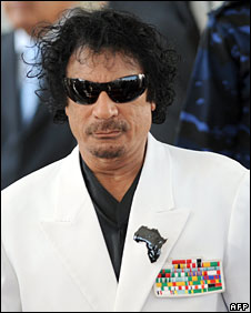 Muammar Gaddafi in Tunis, 3 August 2008