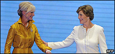 Cindy McCain and Laura Bush