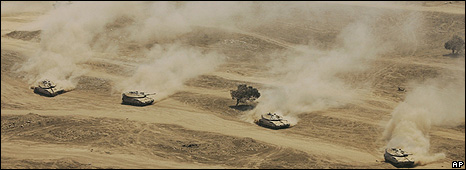 Israeli military exercises in the Golan Heights in August 2008