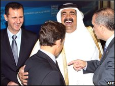 Assad with summit participants