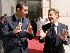 Assad with Sarkozy