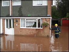 Flooded house in Lydney