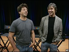 Sergey Brin and Larry Page in 2008