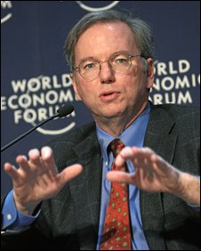 Google CEO Eric Schmidt at the World Economic Forum