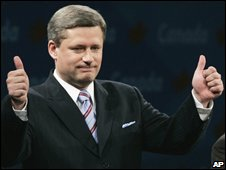 Prime Minister Stephen Harper pictured in 2006