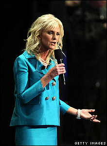 Cindy McCain addresses the Republican Convention on 4 September (local time)