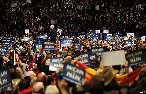 John McCain speaks to the convention