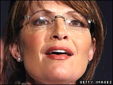 Sarah Palin at Republican convention in St Paul on 4 September 2008