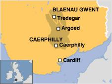 Argoed location map