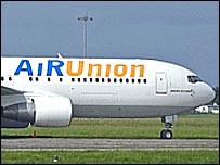 Самолет авиаальянса AiRUnion