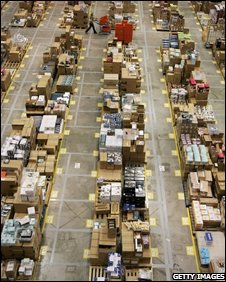 Amazon warehouse, Getty Images