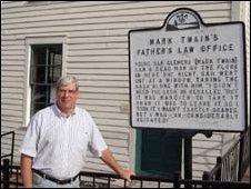 Henry Sweets, curator of the Mark Twain Museum, Hannibal, Missouri