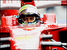 Felipe Massa in practice at Spa