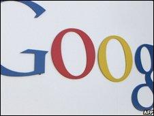 Google logo, AFP