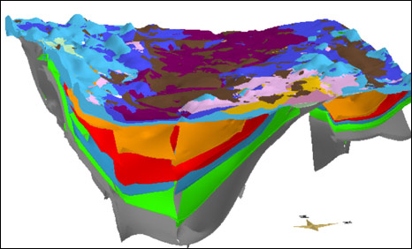 Computer model. Pic: British Geological Survey/NERC copyright