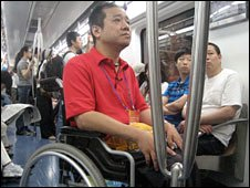 wheelchair user Jin Yi on Beijing's public transport system