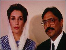 Benazir Bhutto and Asif Zardari