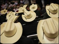 Delegates from Texas at the Republican National Convention