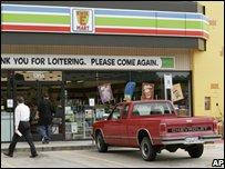 7-Eleven in Dallas turned into a Kwik-E-Mart