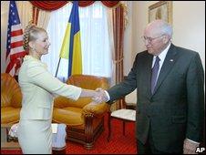 Yulia Tymoshenko and Dick Cheney