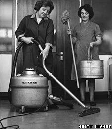 Cleaners at work