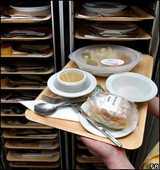 Hospital meal trays