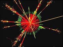 Producción simulada de un agujero negro en el CERN