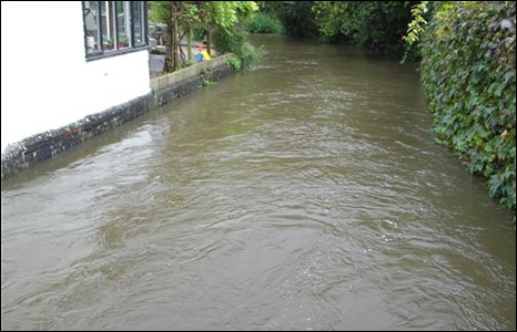 Llanblethian flood water