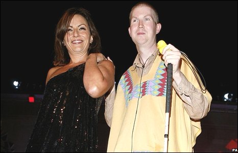 Davina McCall and Mikey Hughes