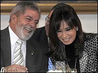 Lula da Silva y Cristina Fern�ndez